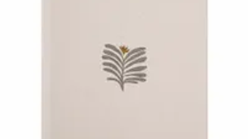 Schriftje grijs blad
