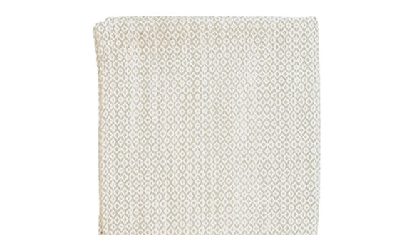 Plaid White/naturel 140 x 180 cm