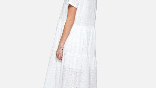 Dress White broderie