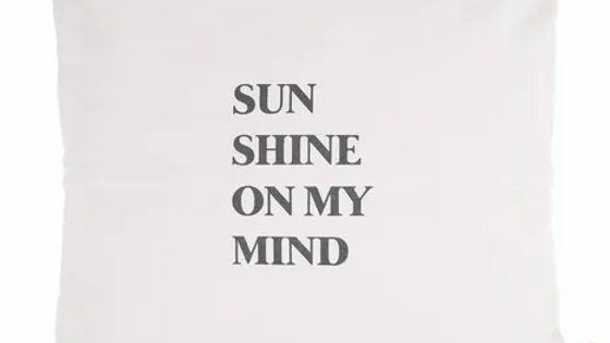 """Kussen """"Sunshine on my mind"""""""