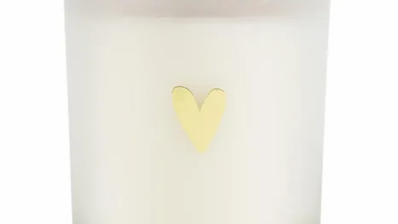 Geurkaars in glas gouden hartje