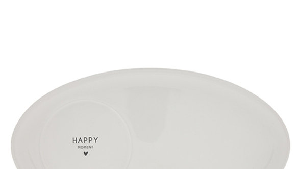 Oval Plate White /Happy Moment Black 25,5x14,5cm