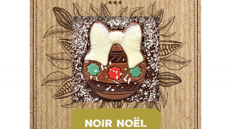 Chocolade reep Fondant met kerstmotief