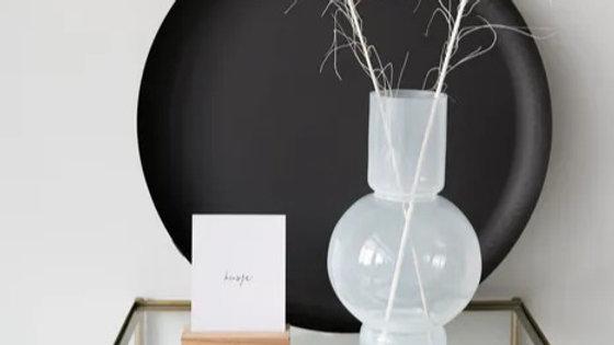 Leuk dienblad/stylingbord zwart metaal (Ø50cm)