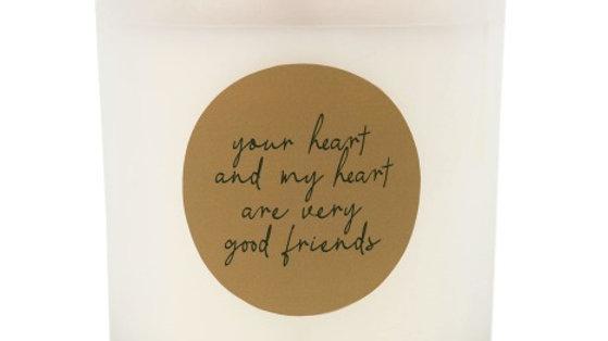 """Geurkaars in glas """"Very good friends"""""""