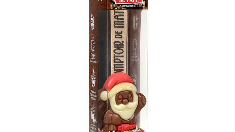 Hot chocolate stick kerstman