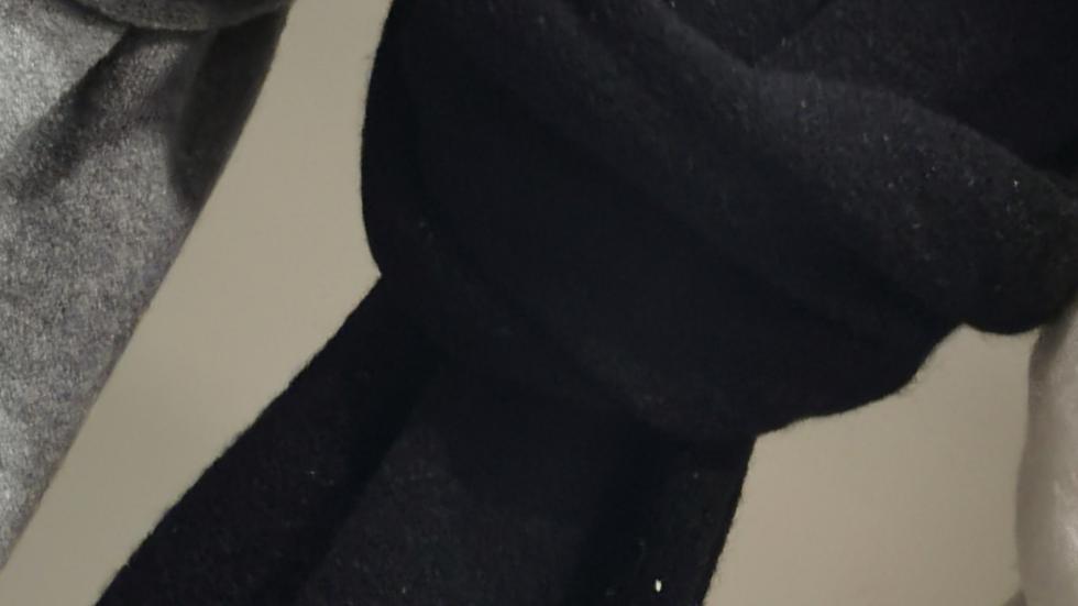 Super zachte sjaal zwart
