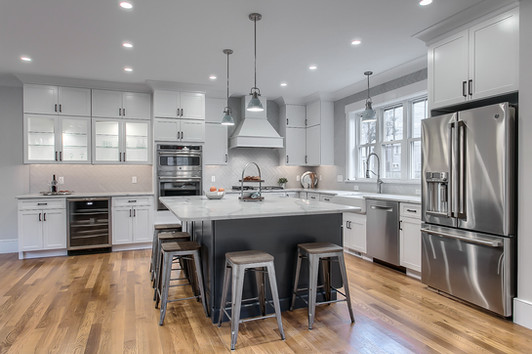Beautiful Open Concept White Kitchen