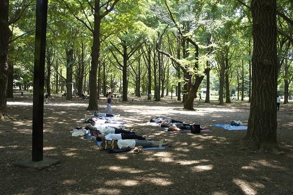 パークヨガ 代々木公園