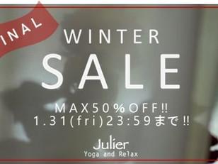 本日最終日‼FINAL WINTER SALE MAX 50%OFF‼