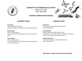 Connecticut Entomological Society Annual Student Competition