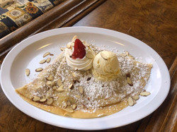 french crepes almond softeis whipped cream powder sugarmon paris coffee shop and bakery fort myers