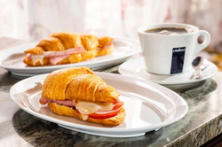 croissant ham cheese lavazza coffee mon paris coffee shop and bakery fort myers