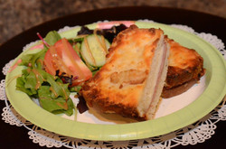 sandwich toast ham cheese salad tomato cucumbermon paris coffee shop and bakery fort myers