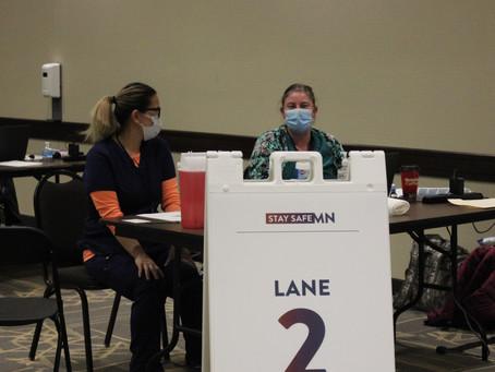Lt. Gov. Peggy Flanagan visits Worthington COVID vaccine event