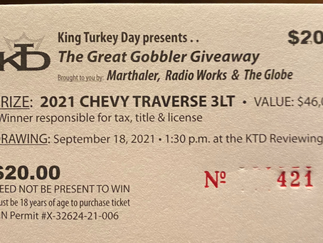 The Great Gobbler Giveaway has begun! Win a 2021 Traverse!