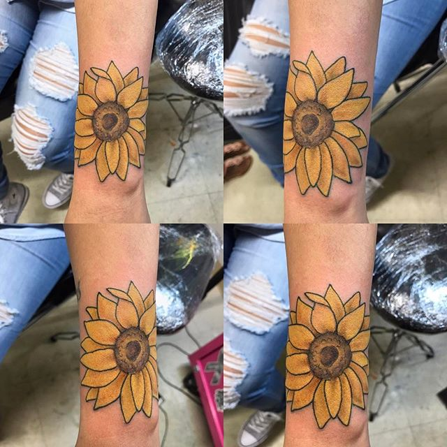 Did a little sunflower action too.