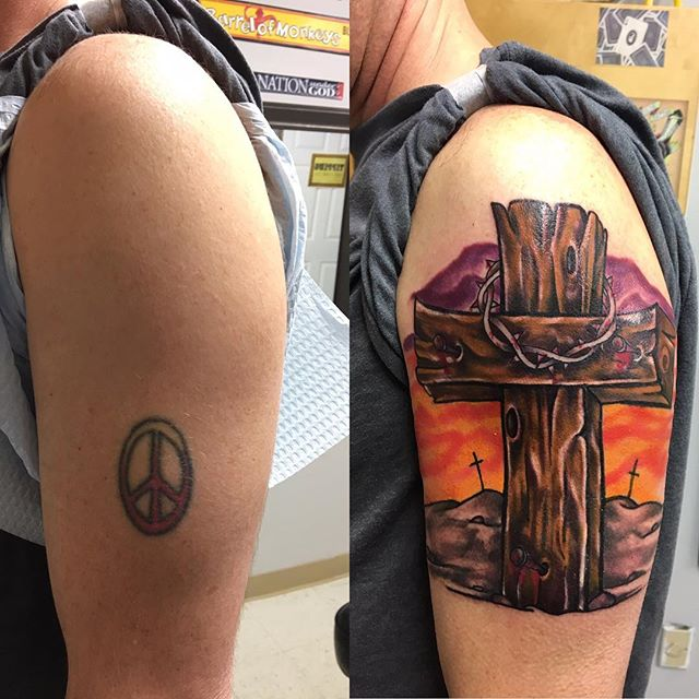 A little cover-up action from today