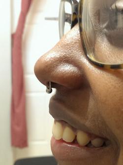 Side View Septum Piercing