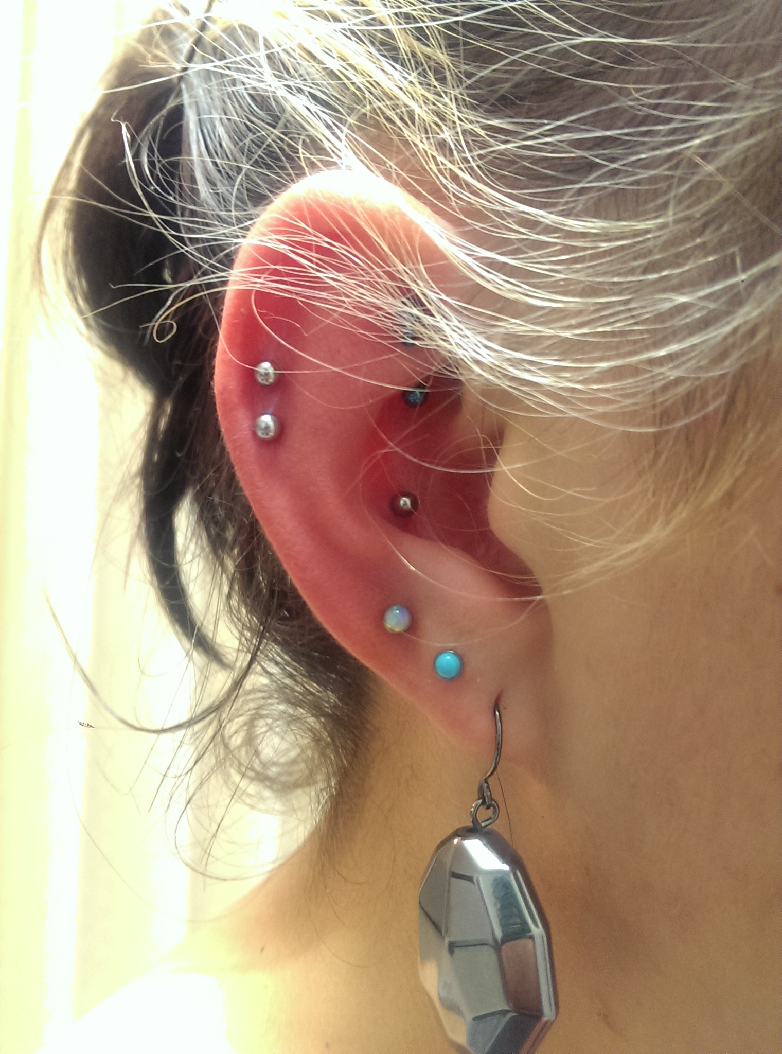 Helix and Conch Piercings