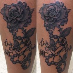 Another fun project #rosetattoo #lifting #tattoo #notwtattoo #notw #notofthisworld #stonemountain #s