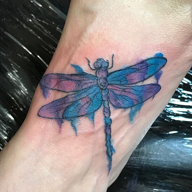 Cute little watercolor dragonfly #smallbusiness #villagestrong #stonemountain #stonemountainvillage