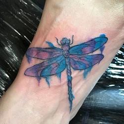 Cute little watercolor dragonfly #smallbusiness #villagestrong #stonemountain #stonemountainvillage