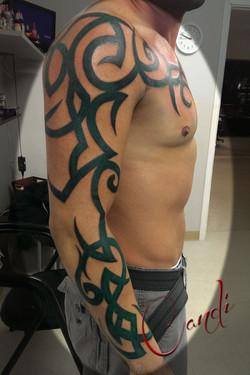 Custom Green Tribal