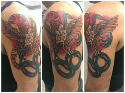 Traditional Eagle and Snake