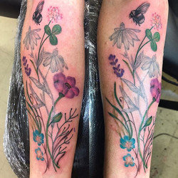 Added on to previous flower done by me