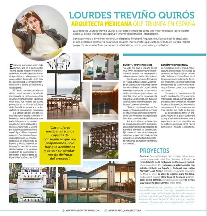 La revista de arquitectura mexicana ENTREMUROS publica este artículo sobre Lourdes Treviño.