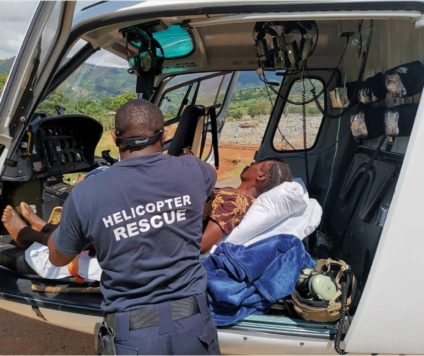 ACE Remote Helicopter Rescue Patient