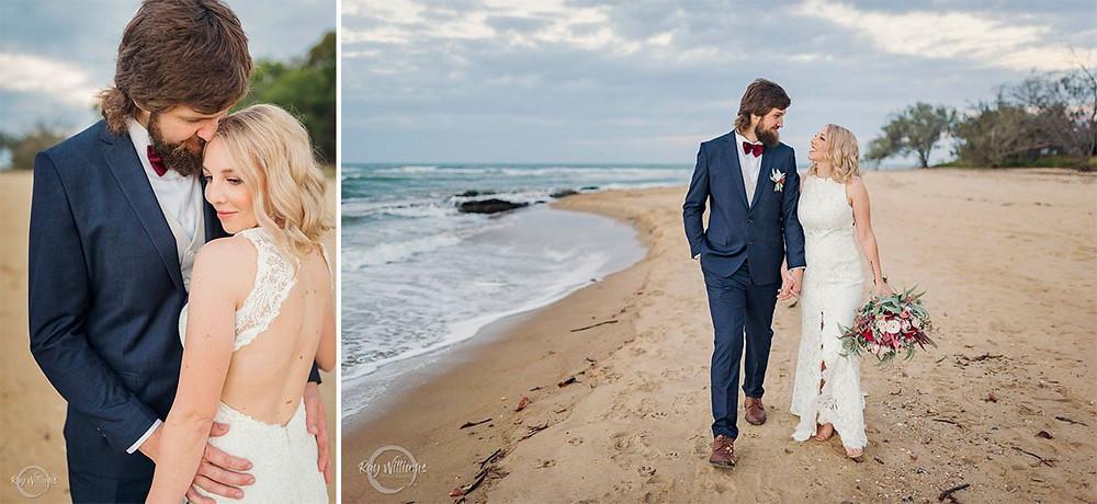 Gladstone wedding makeup artist beach wedding