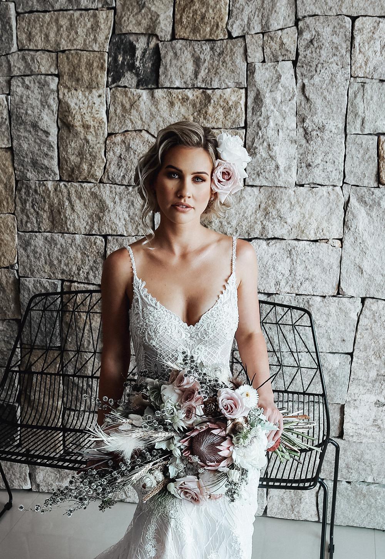 Wedding Makeup Bride Flowers