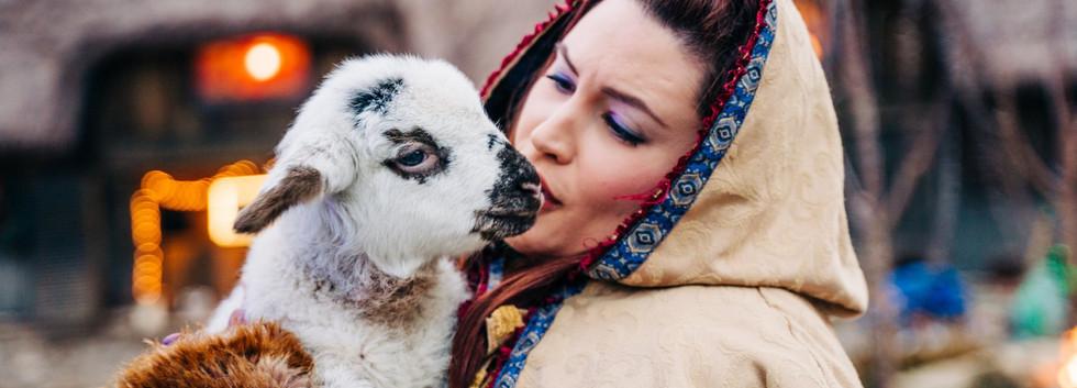 Mayor Violet Atkinson with Salt the Sheep