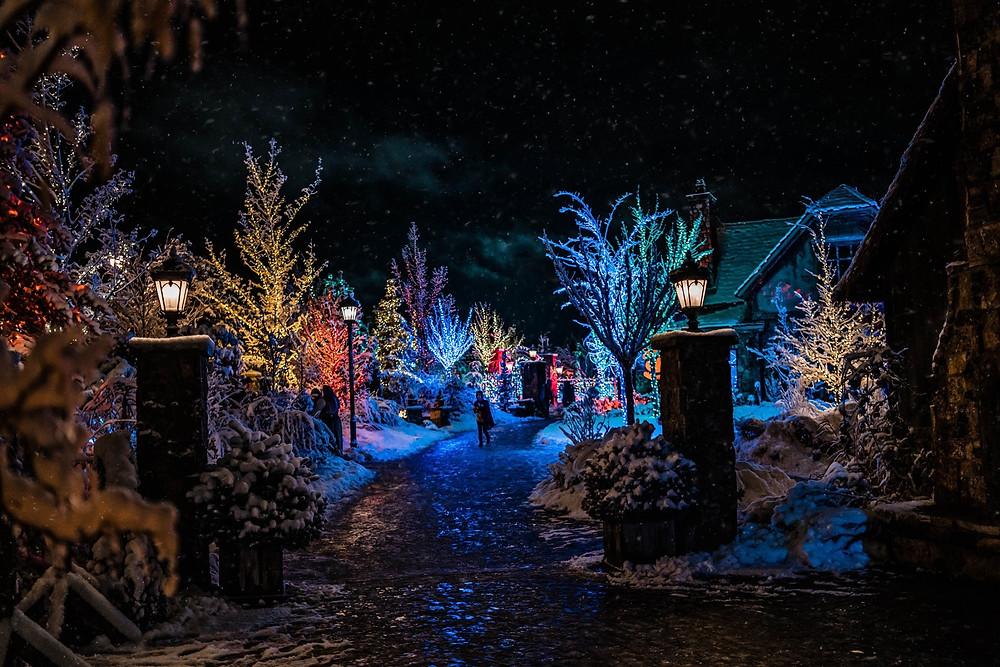 Evermore Park's Light displays