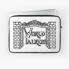 Black & White World Talkers Logo