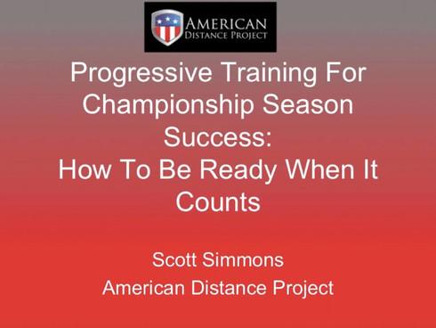 New ADP Video Available: Scott Simmons - Progressive Training For Championship Cross Country Season