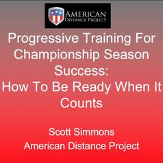 Video: Progressive Training For Championship Success