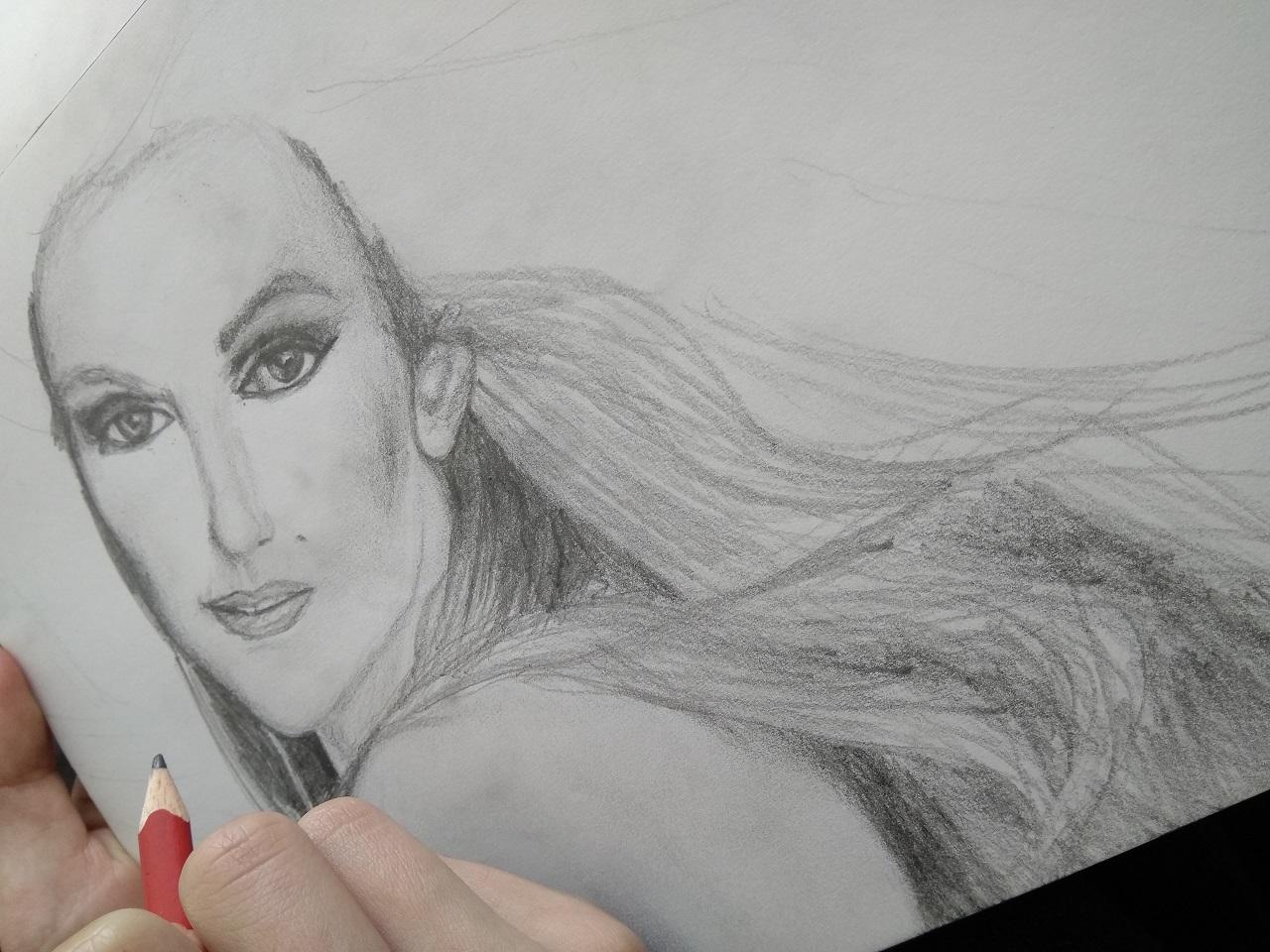 Drawing: Celine Dion