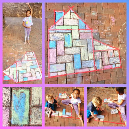 Brick Colouring With Chalk