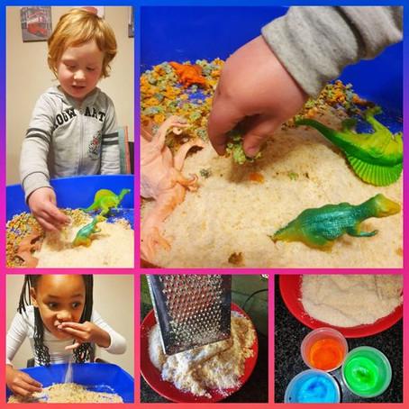 Edible Dinosaur Sand