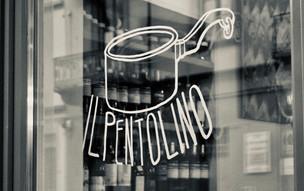 Vetrina del ristorante Pentolino