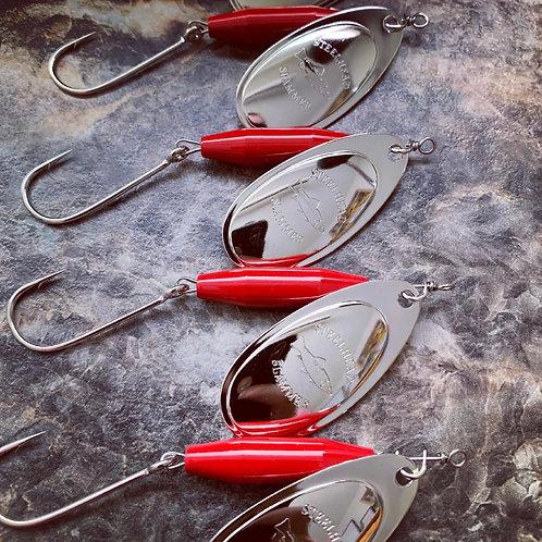Blood Red/Nickel