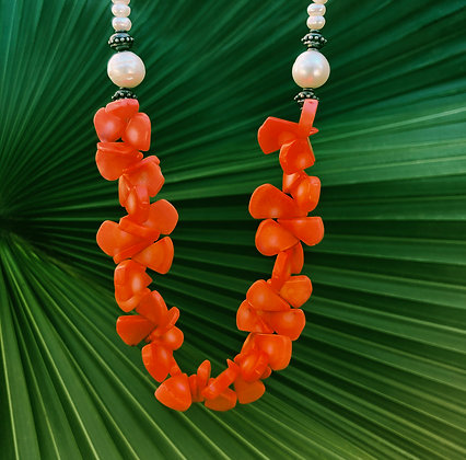 Coral Lei Necklace