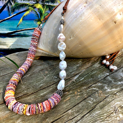 Hawaiian Seashell Lei Necklace
