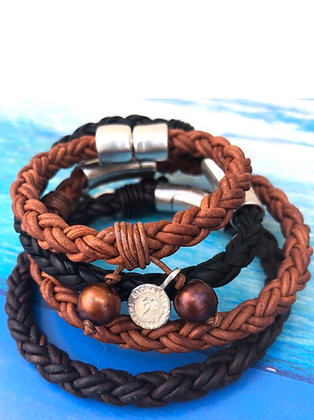 His or Hers Thick Braid Bracelet
