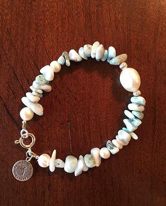 Festiva Pearl & Larimar Bracelet