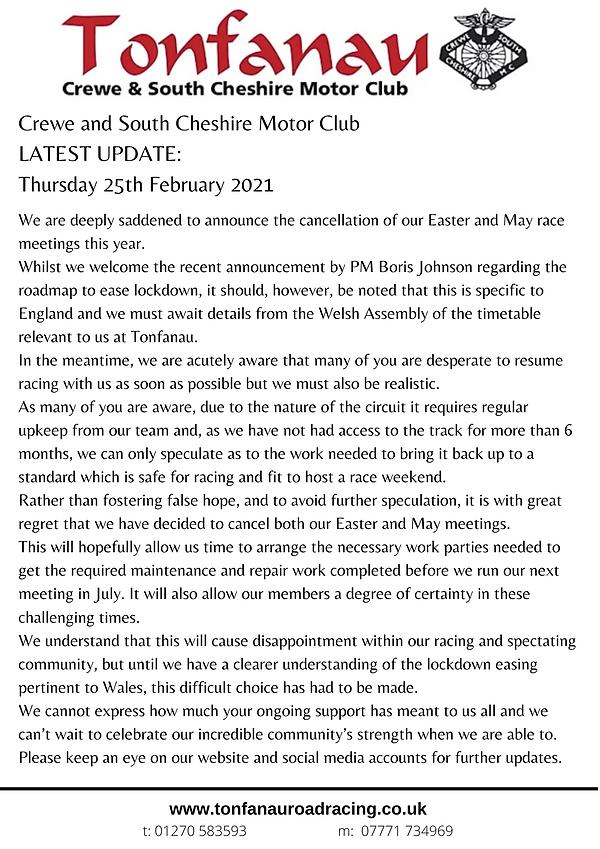 Tonfanau 25 Feb announcement.png