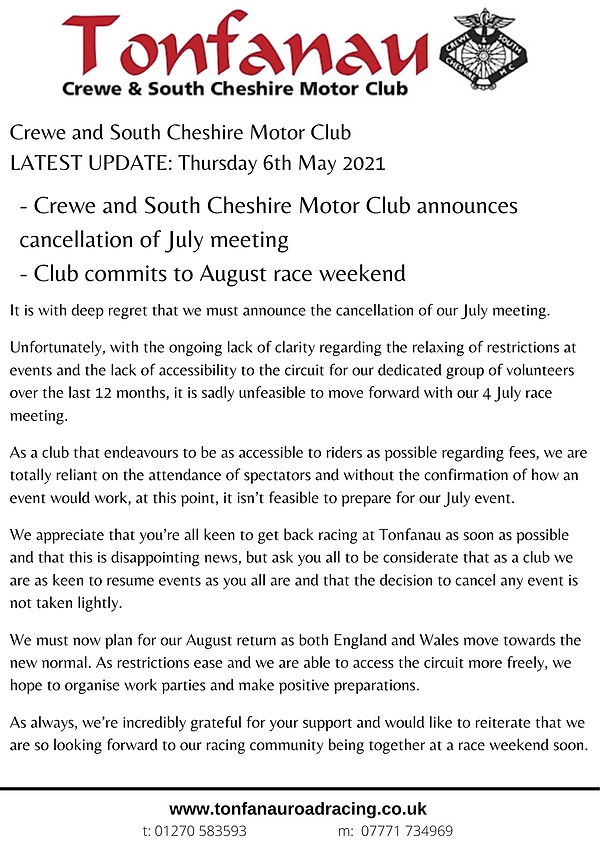 Tonfanau May announcement.png